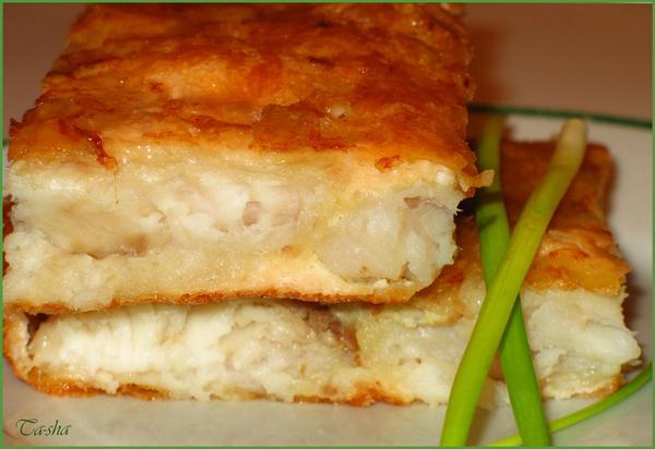 fish in cheese souffle
