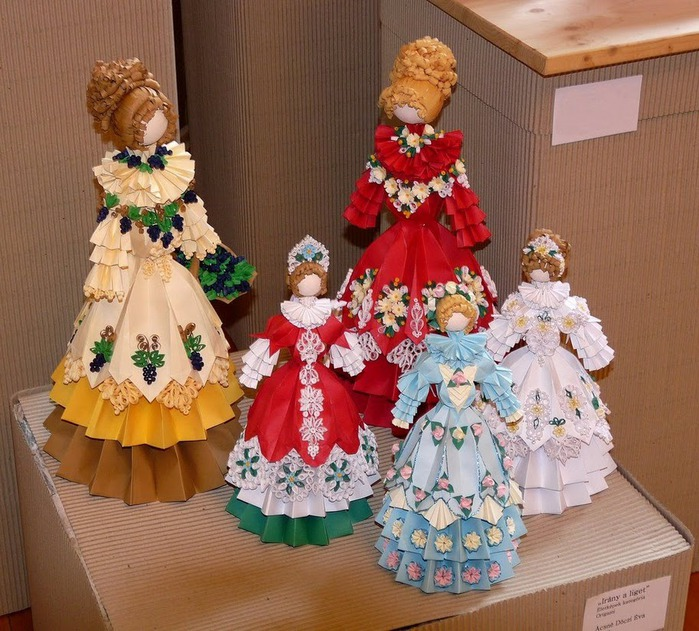 Кукла из оригами схема