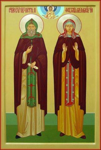 Икона святых благоверных князя Петра и княгиню Февронию Муромских