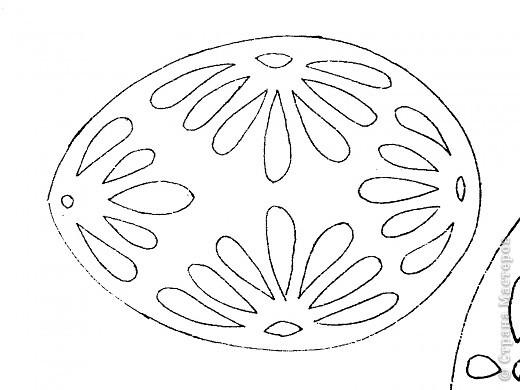 пасхальные яйца из картона трафарет