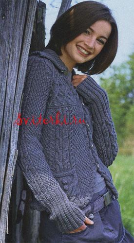Модные вязаные жакеты женские.