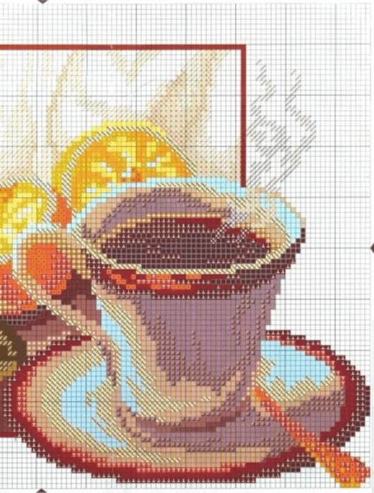 Вышивки крестиком схемы чай