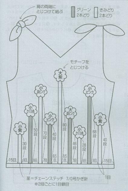 Топ с завязками на плечах и объёмными цветочками