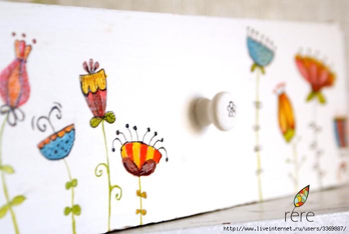 ручная роспись ящика и рамки