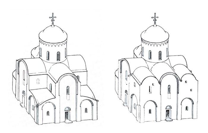 Это крестово-купольный храм,