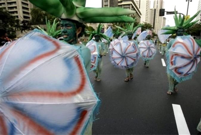 """""""Караколь"""" фестиваль экологического сознания в районе Макати, Манила, Филиппины, 27 февраля 2011 года."""