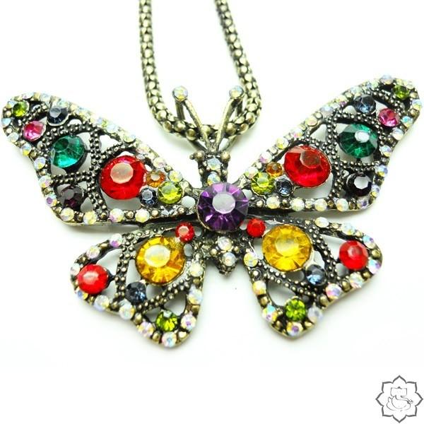 подвеска бабочка бижутерия