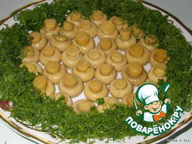Грибная полянка салат фото