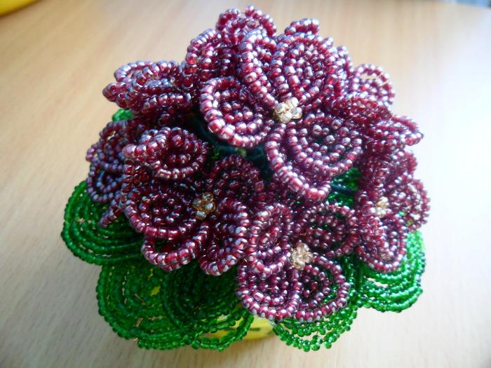 плетение из бисера видео