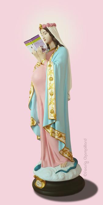 Дева Мария в стиле поп арт (фото)
