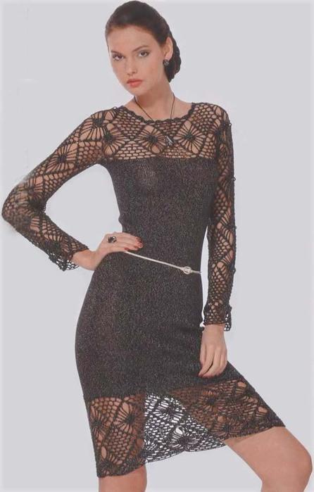 очень красивое черное платье!