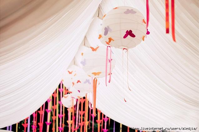 декор свадеб ленты
