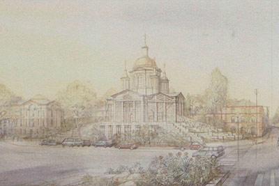 Архитекторы Михаил Филиппов (Россия) и Владимир Митрофанов (Франция) Храм в Париже