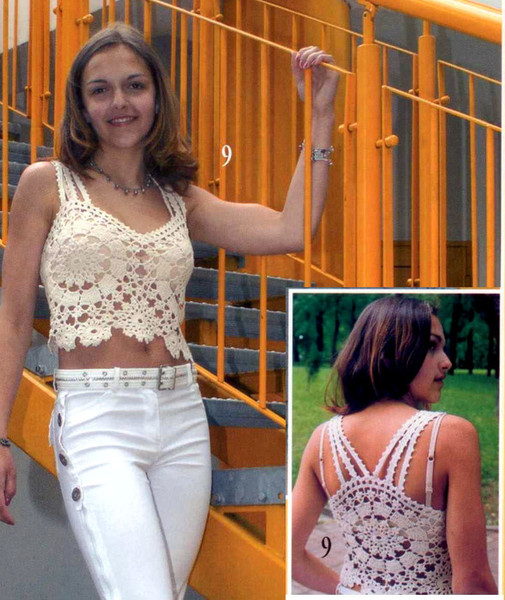 fashion top for girls, free crochet patterns