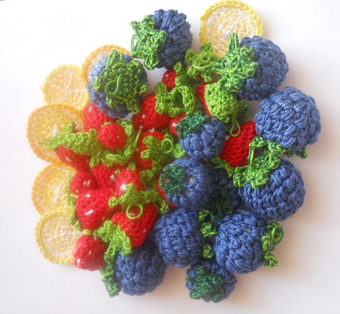 Вкусные вязаные бусины.