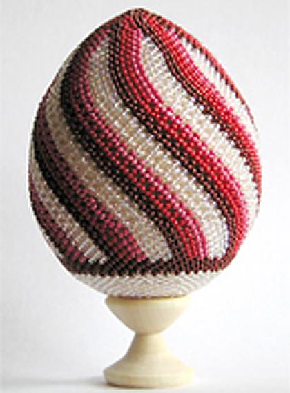 Схема украшения яйца бисером:
