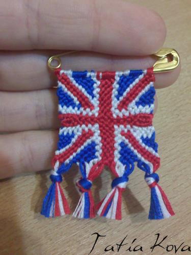 фенечка из мулине британский флаг