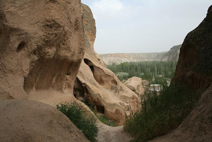 вырубленный в скалах - монастырь Селиме (Selime) 30555