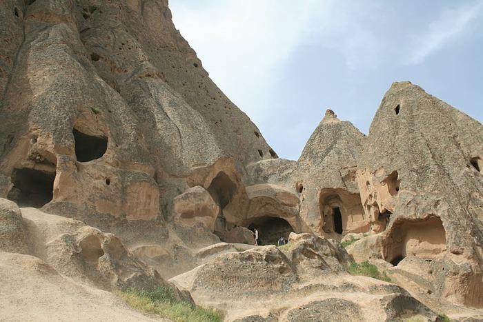 вырубленный в скалах - монастырь Селиме (Selime) 72407