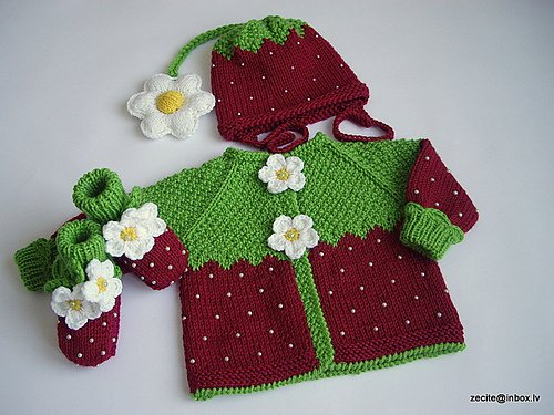 strawberry knitting patterns for kids