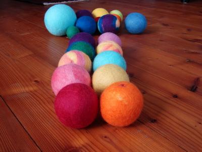 мячики войлочные шерстяные