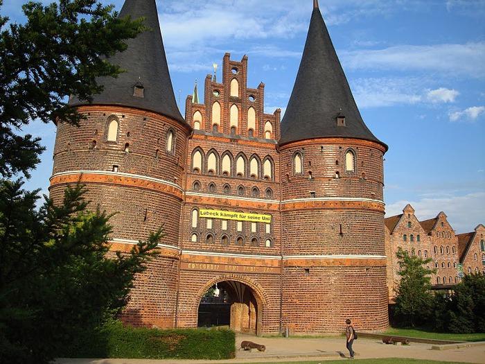 Голштинские ворота - Holstentor -Любек 19908