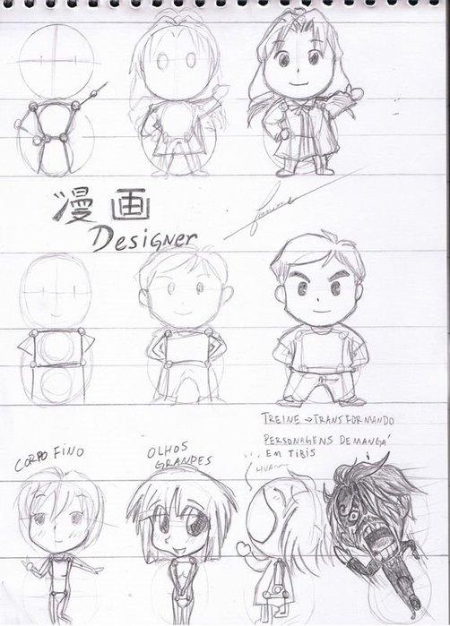 как нарисовать персонажей манга