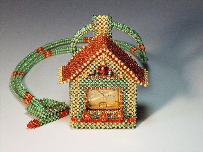 Сказочные домики из бисера.