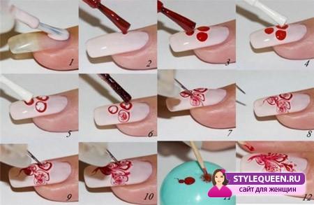 Дизайн ногтей лаком в домашних условиях