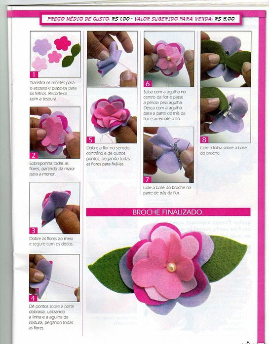 how to make bow and felt flower