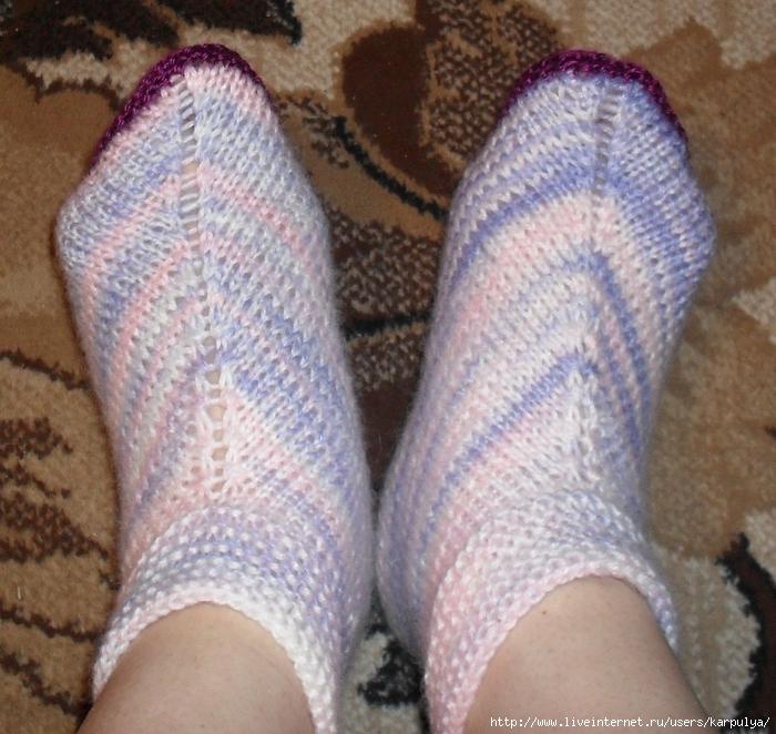 Вяжем носки за два часа.
