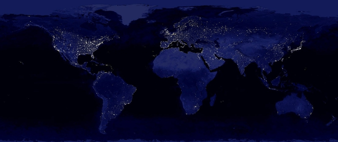 World electricity consumption map