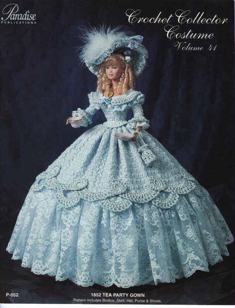 вязание крючком-платья для барби.  Метки.