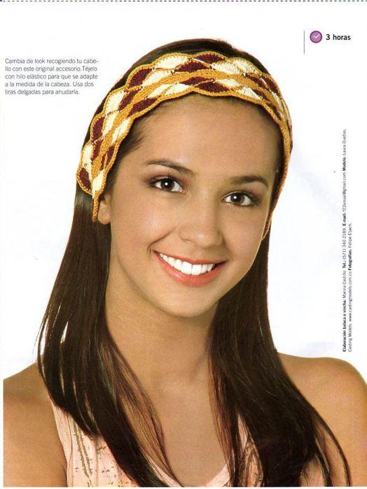 вязаные повязки на голову крючком - Выкройки одежды для детей и взрослых.
