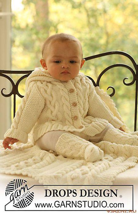 """На нашем женском сайте  """"Дамочка """" Вы в любое время отыщите публикацию - вязание для малышей из дропс с описанием..."""