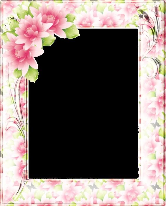 Рамка для поздравлений с цветами