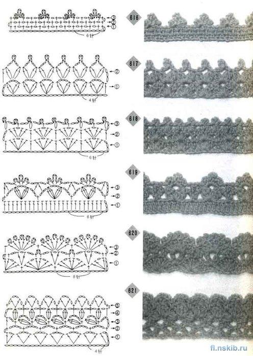 Симпатичный контур - схемы обвязки (крючок).  Прочитать целикомВ.
