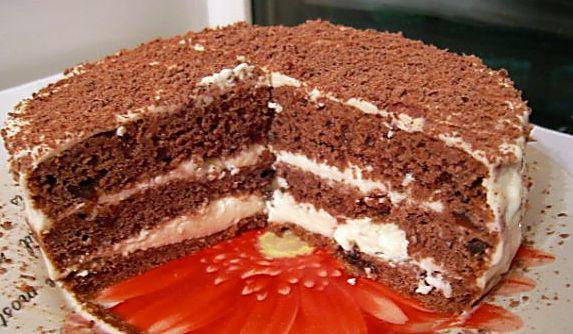 Вкусный тортик со сметаной рецепт