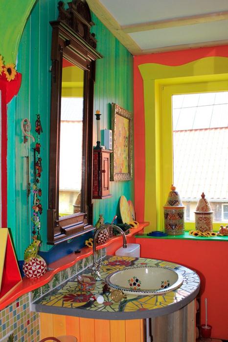 Цветные комнаты фото