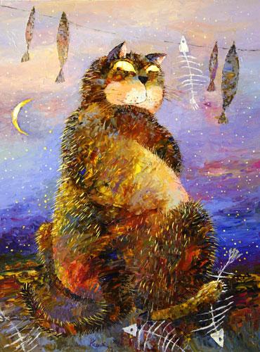 Прикольные истории о котах - Страница 2 64359788_nochnoy_dozhor
