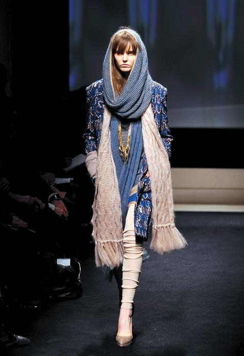Модное вязание спицами шарф и шапка