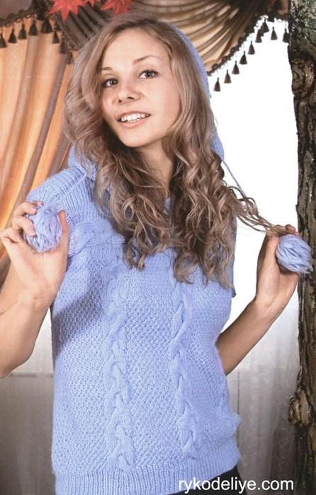 Вязание жилета с капюшоном - Здоровый Образ Жизни.