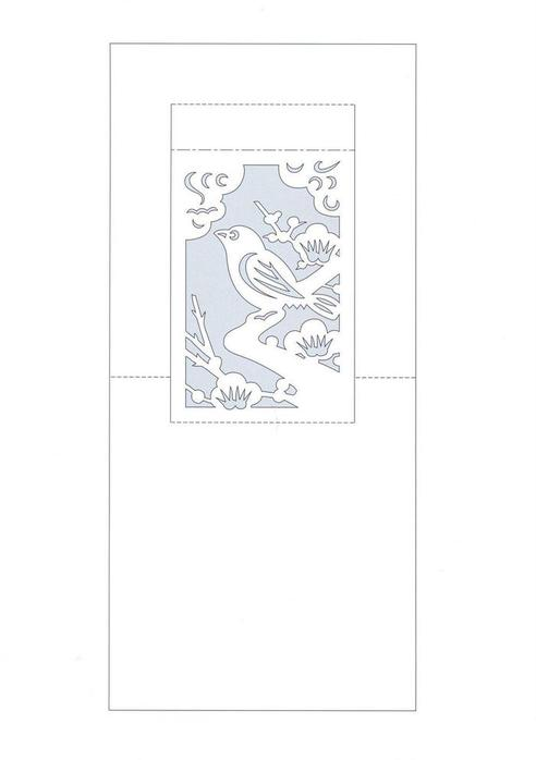 Спешу похвастать очередными открытками киригами.  Использовала бумагу Колотек.