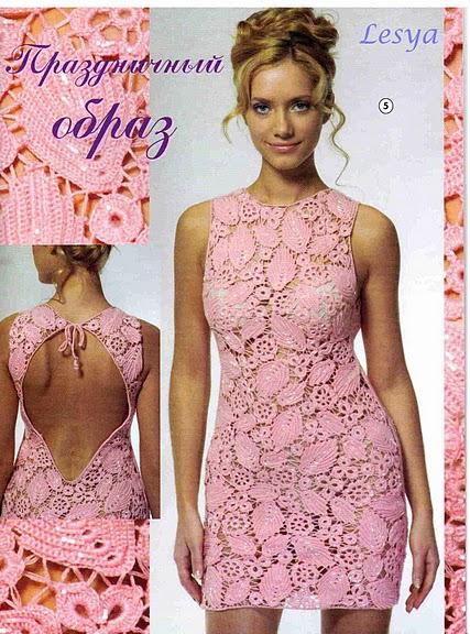 Вязание крючком фото платья.