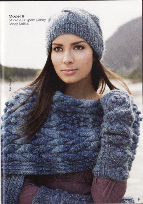 Вязание шапок по схеме.
