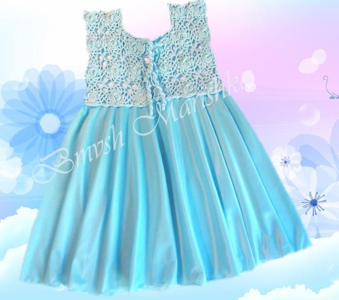 комбинированное детское платье своими руками