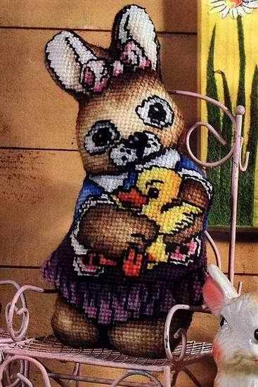 Вышивка крестиком двусторонних мягких игрушек