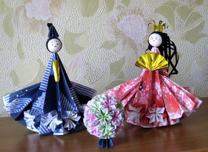 Поделки куклы с оригами 113