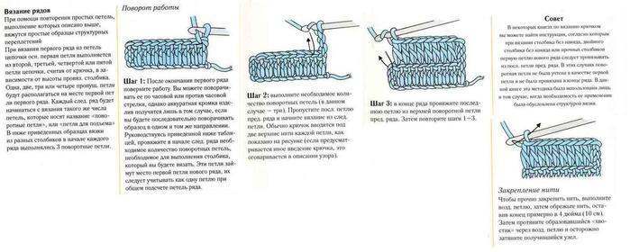 Прикрепление вязания в пустоту предыдущего ряда