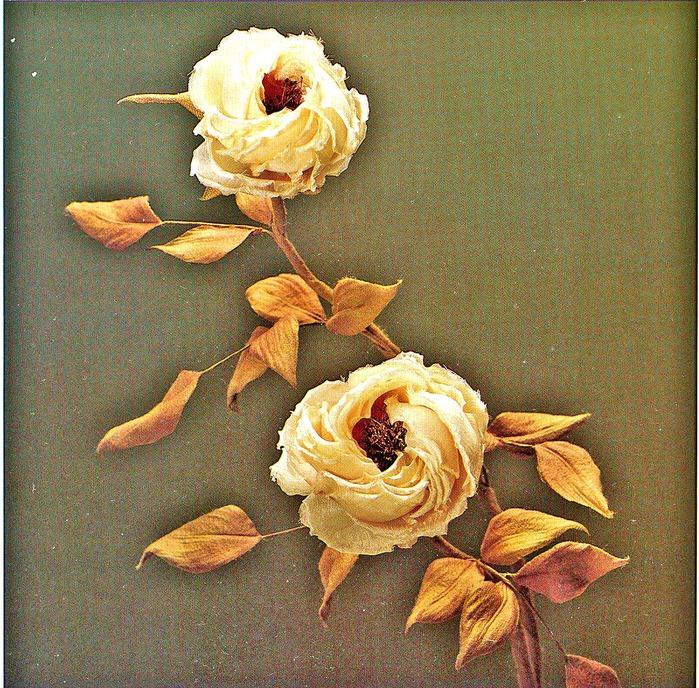 цветы в японской технике остекление